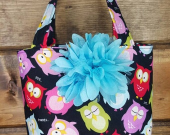 Little Girls Owl Purse, Childs Purse, Childs Tote, Owl bag, Little girl's purses