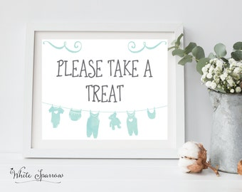 Baby Shower Decorations, Baby Shower Sign, Baby Shower signs, Baby Boy Shower Decorations. Baby Shower Decorations. Please take a Treat