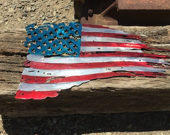 American Flag Metal Cutout