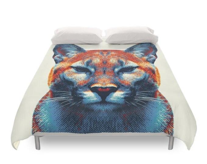 Puma Duvet Cover - Colorful Animals