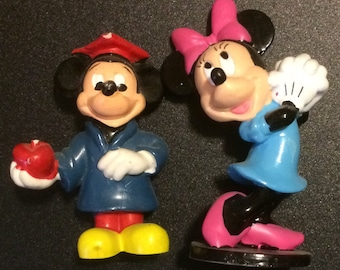 PVC Figure ~ Applause ~ Mickey Mouse (Teacher) and Minnie Mouse