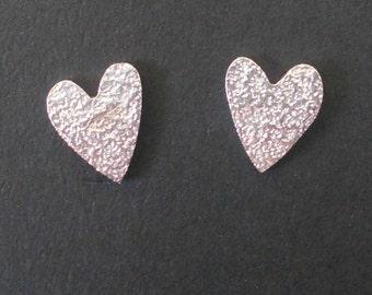 Sparkly Heart Ear Studs