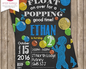 Bubble Party Invitation - You Print