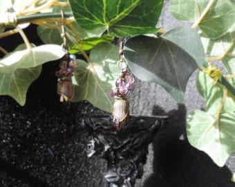 """Victorian style """"Purple Garden"""" earrings"""