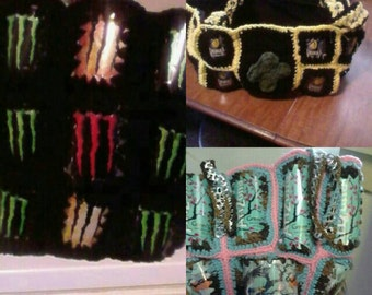 Upcycled Purses, popcan bags, recycle reuse repurpose