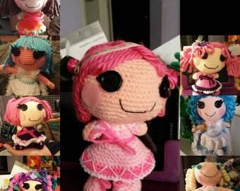 """Handmade Crocheted Mini Lalaloopsy Dolls, 8"""" tall baby dolls"""
