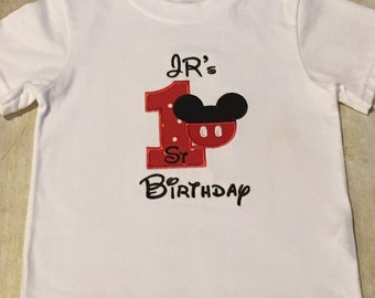 Mickey Mouse 1st birthday shirt