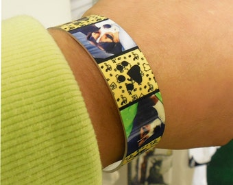 Personalized Bracelet, Adjustable Cuff Bracelet, Photo jewelry