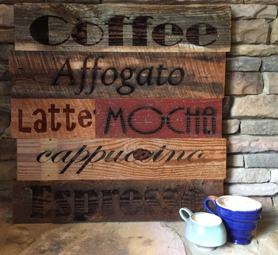 Barnwood Coffee Sign
