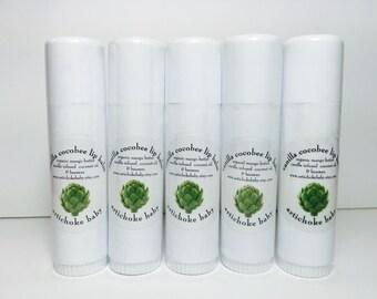 organic vanilla cocobee lip balm, body balm, huge tube, infused vanilla bean