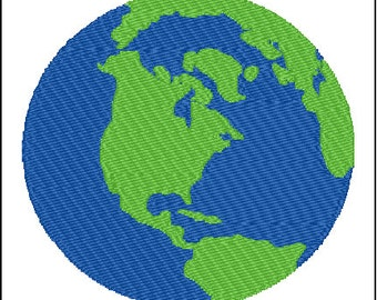 Earth Embroidery Pattern Design