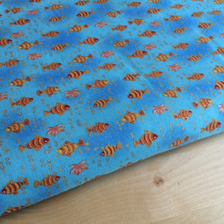 blue goldfish fabric by the yard kids fish fabric by On fish fabric by the yard