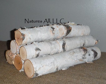 White Birch Fireplace Logs/Empty Fireplace Decor/Fill A Space/6 PC. Set/12 Inch Lengths/2-3 Inch Diameters/Shipping Included: Item# BL-1200
