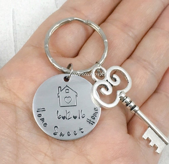 Housewarming Gift Home Sweet Home Keychain New Home Gift