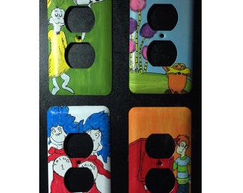 Dr. Seuss Hand Painted Outlet Covers