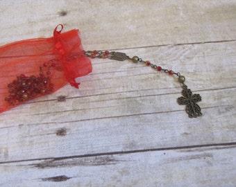 Bronze Golden Red Rosary