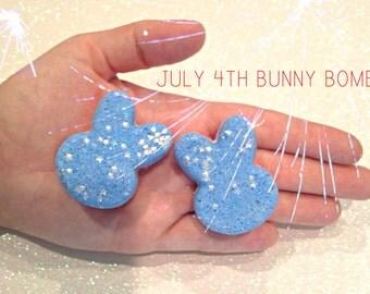 July 4th Bunny Bath Bomb, American Flag, Fourth of July, Organic, Vegan, Cruelty Free, Kids, Bath time, Stars, Glitter, Gift, Independence