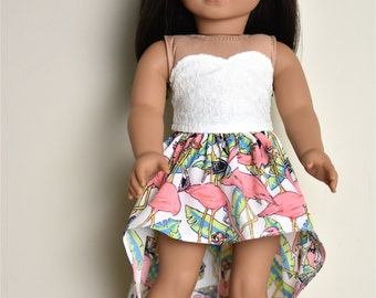 High Low Skirt 18 inch doll clothes American made doll clothes