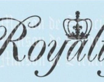 Royalty with Crown Stencil (5.5x11.5)
