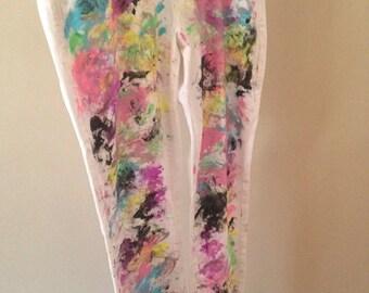 White Splatter Jeans