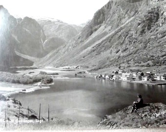 Vintage Norway Postcard .Gudvangen, Sogn