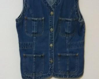 Bill Blass Jean Vest