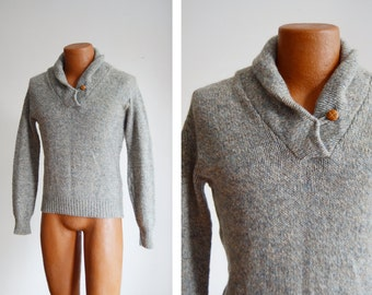 1960s Grey Cowl Neck Sweater - XS/S