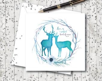"Love is a perfect bond of union"". JW Greetings card. NWT Anniversary Wedding"