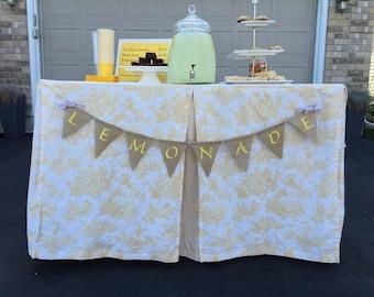 Lemonade burlap banner - burlap pennant - lemonade stand banner