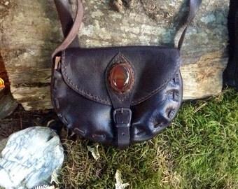 Leather agate purse/handbag/shoulder bag