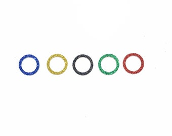 Olympic Inspired Confetti | Olympic Inspired Rings Confetti | Olympic Inspired Decor | Olympic Inspired Decoration | Olympic Themed Party