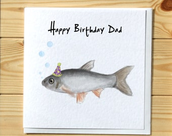 Fish & Bubbles Birthday Greetings Card