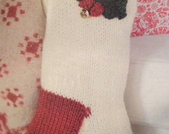 Christmas Holly Berry Stocking Knitting Pattern