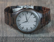 Wooden Watch Walnut | Engraved Wood Watch | Personalized All Wood Watch For Men | Best Christmas Gift | Gift For Him | Groomsmen Gift