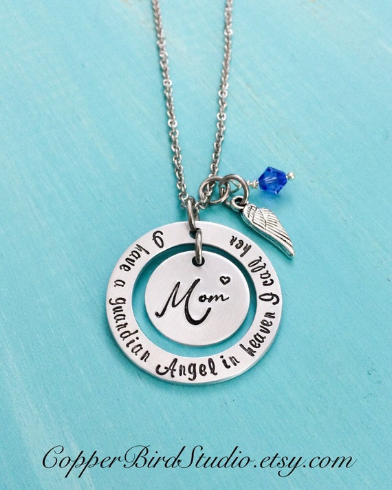 mom memorial necklace loss of mother