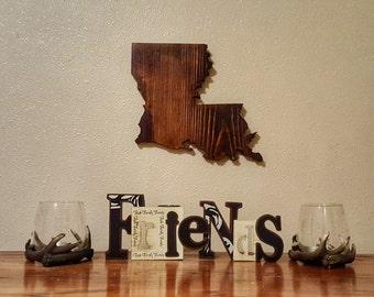 Louisiana Sign, Louisiana, Wood Louisiana Sign, Louisiana State Sign, Louisiana Cutout, Louisiana Outline, Louisiana Wood Sign