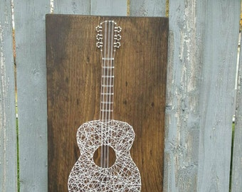 Acoustic Guitar String Art