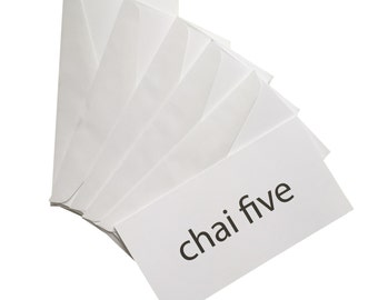 CHAI FIVE money holder greeting cards