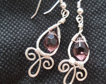 Faceted crystal briolette earrings