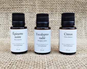 Trio E-E-C: set of essential oils - 3 bottles to 15 ml each