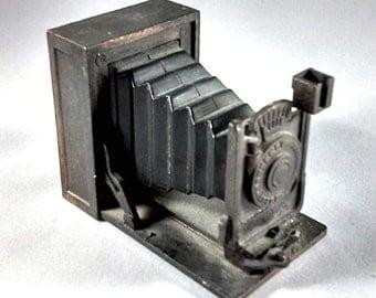 Pencil Sharpener Vintage Die Cast Folding Camera