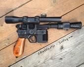 Pre-order  DL-44 Han solo 1:1 Hero (Metal Mauser & Flash Hider) Blaster