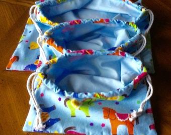Set of Three Draw String Bags