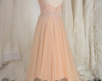 Bridal Separtes Skrit- Blush Pink Tulle Bridal Skirt, Tulle Wedding Skirt, Tulle Skirt for Bride, Long Tulle Skirt for Wedding Dress 556S