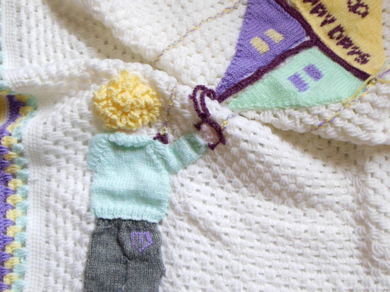 Crochet Blanket Baby / Afghan / Swaddling Blanket Kite