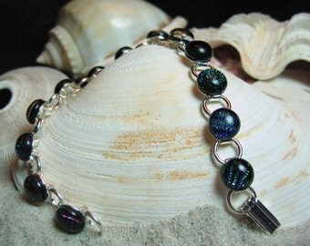 Multi-Colored Dichroic Glass Bracelet
