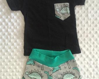Dinosaur shirt & shorts