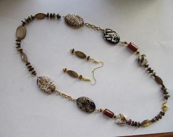 Earth Tone Necklace Set