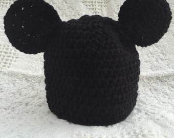 Mickey Mouse Inspired Beanie Hat, Mickey Mouse Hat, Halloween, Mickey Cap,