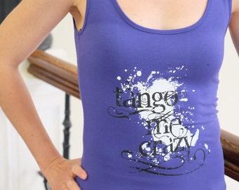 "Tunic ""Tango me crazy"" in purple size S-M"